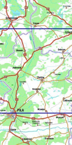 Powiat złotowski - widok mapy papierowej