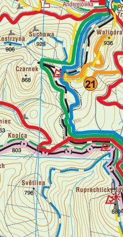 Mapa tras rowerowych MTB - widok mapy papierowej