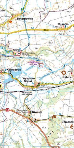 Ziemia Nyska dla aktywnych - widok mapy papierowej