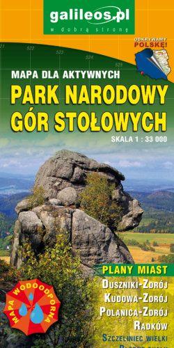 Park Narodowy Gór Stołowych - widok mapy papierowej