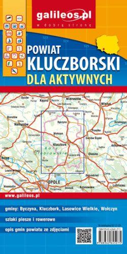 Powiat kluczborski dla aktywnych - widok mapy papierowej