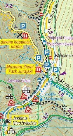Masyw Śnieżnika, Góry Bialskie, Góry Złote, Krowiarki - widok mapy papierowej