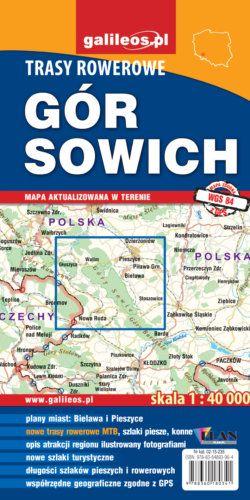 Trasy rowerowe Gór Sowich - widok mapy papierowej