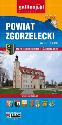 Zgorzelec /  Görlitz - Powiat Zgorzelecki - widok mapy papierowej