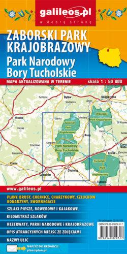 Zaborski Park Krajobrazowy, Park Narodowy Bory Tucholskie - widok mapy papierowej