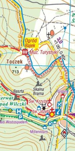 Śnieżnik, Międzygórze plan - widok mapy papierowej