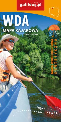 Front okładki Wda – mapa kajakowa