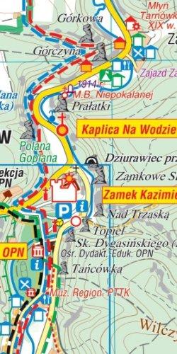 Ojcowski Park Narodowy - widok mapy papierowej
