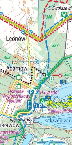 Zalew Sulejowski i okolice - widok mapy papierowej