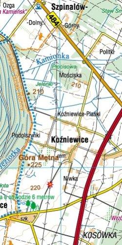 Ziemia Sieradzka - widok mapy papierowej