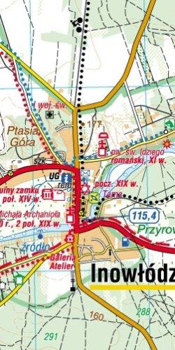 Spalski Park Krajobrazowy - widok mapy papierowej