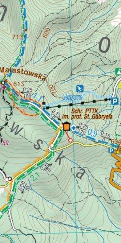 Beskid Niski - widok mapy papierowej
