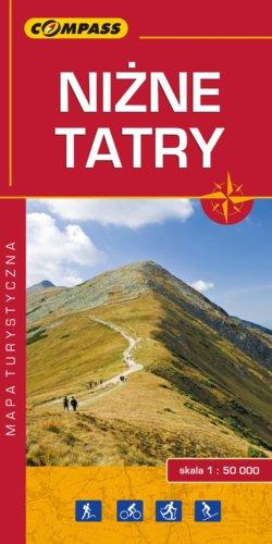 Niżne Tatry - widok mapy papierowej