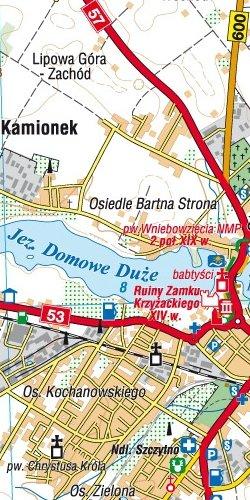 Pojezierze Olsztyńskie - część południowa - widok mapy papierowej