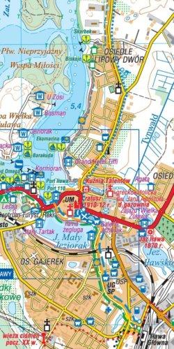 Mazury Zachodnie - widok mapy papierowej