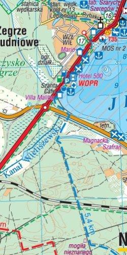 Jezioro Zegrzyńskie i okolice - widok mapy papierowej
