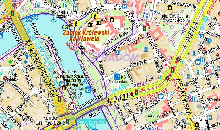 Krakow Plan Miasta Mapy Gps Sklep Z Mapami Nawigacja