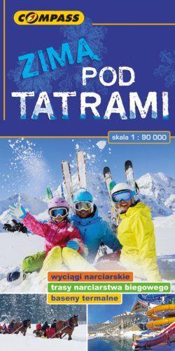 Zimą pod Tatrami - widok mapy papierowej