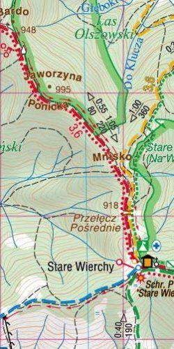 Gorce - widok mapy papierowej