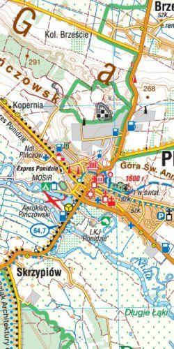 Ponidzie - widok mapy papierowej