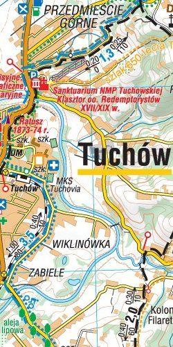 Pogórze Ciężkowickie - widok mapy papierowej