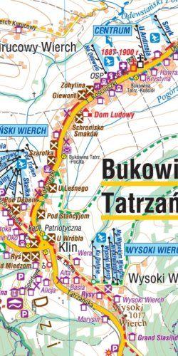 Bukowina Tatrzańska, BIałka Tatrzańska - widok mapy papierowej
