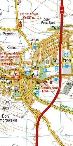 Wyżyna Miechowska - widok mapy papierowej