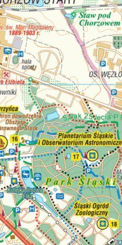 Metropolia Silesia i okolice - 101 atrakcji turystycznych - widok mapy papierowej