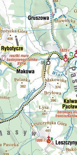 Podkarpackie południowe - widok mapy papierowej