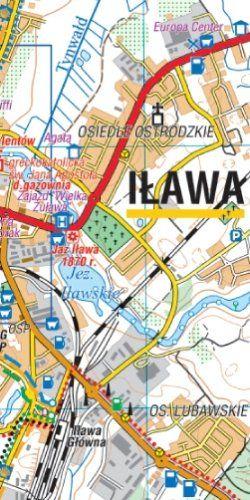 Pojezierze Iławskie, Wzgórza Dylewskie - widok mapy papierowej