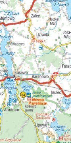 Warmia i Mazury - 101 atrakcji turystycznych - widok mapy papierowej