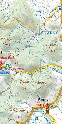 """Małopolska Południowa """"SETKA"""" - widok mapy papierowej"""