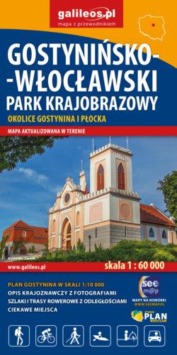 Gostynińsko-Włocławski Park Krajobrazowy - widok mapy papierowej