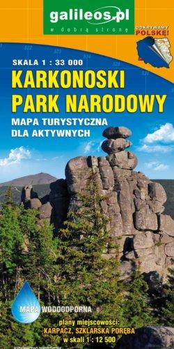 Karkonoski Park Narodowy - widok mapy papierowej