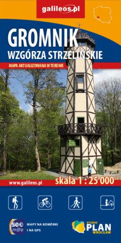 Gromnik Wzgórza Strzelińskie - widok mapy papierowej