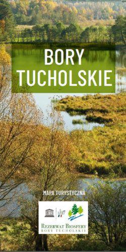 Bory Tucholskie Biosfera - widok mapy papierowej