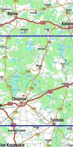 Kaszubska Marszruta - widok mapy papierowej