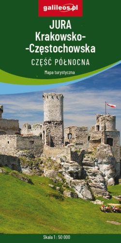 Jura Krakowsko-Częstochowska - część północna - widok mapy papierowej