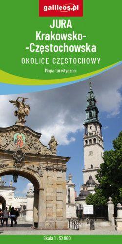 Jura Krakowsko-Częstochowska Okolice Częstochowy - widok mapy papierowej