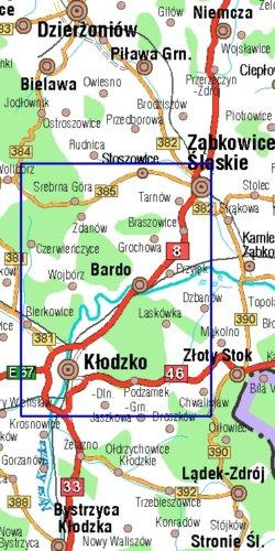 Góry Bardzkie, skala 1 : 25 000 - widok mapy papierowej