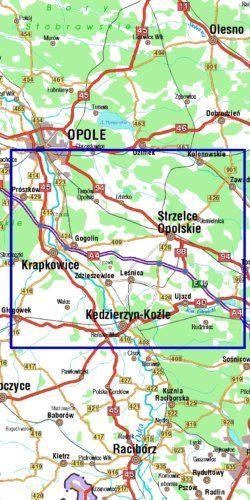 Góra Świętej Anny - widok mapy papierowej