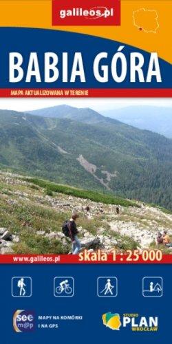 Babia Góra - widok mapy papierowej
