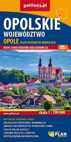 Opolskie województwo - widok mapy papierowej